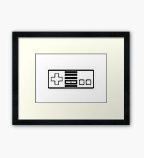 Nes - 8bit retro gamer Framed Print
