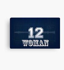 12th woman seahawks Canvas Print