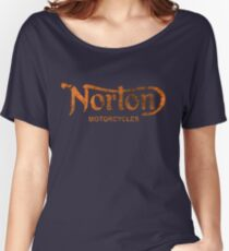 NORTON MOTORCYCLES DISTRESSED VINTAGE STYLE Women's Relaxed Fit T-Shirt