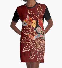 Red Lion Batik Graphic T-Shirt Dress