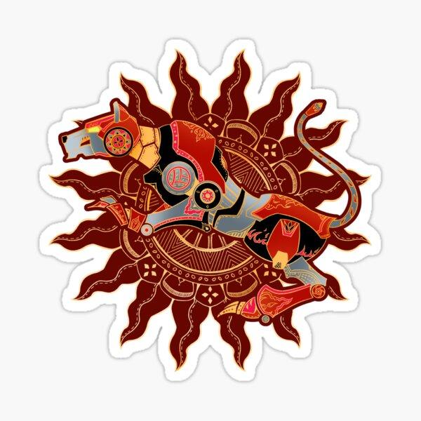 Red Lion Batik Sticker