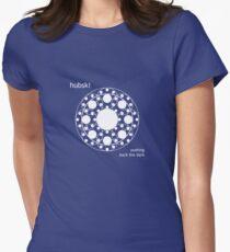 Fractubski White 1 Women's Fitted T-Shirt