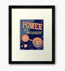 Power For Progress vintage Atomic poster  Framed Print