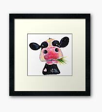 NOSEY COW PRiNT 'HURLEY BURLEY' BY SHiRLeY MacARTHuR Framed Print