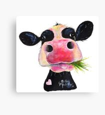 NOSEY COW PRiNT 'HURLEY BURLEY' BY SHiRLeY MacARTHuR Canvas Print