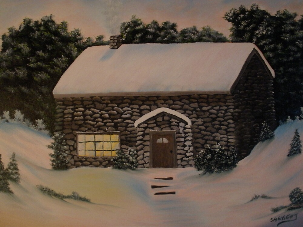 stone cabin by ron sargent