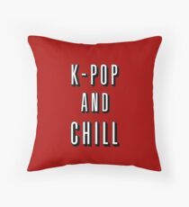K-POP And Chill Throw Pillow