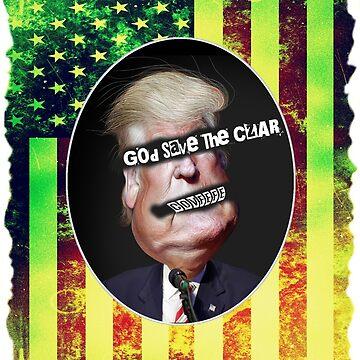 God Save The Czar - Anti Trump Punk / Grunge Design by iNukeDesign