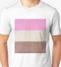 Knitted ice cream stripes Unisex T-Shirt