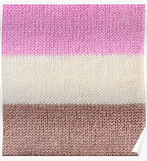 Knitted ice cream stripes Poster