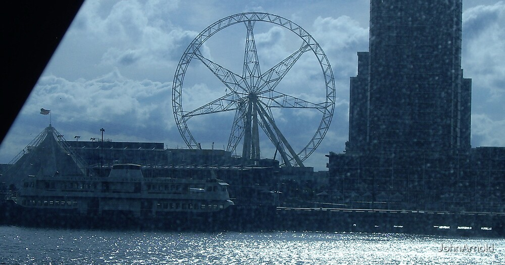 Blue Wheel by JohnArnold