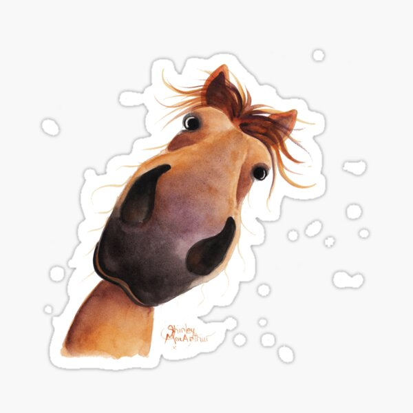 HORSE PRiNT 'MAD MAX' BY SHiRLeY MacARTHuR Sticker