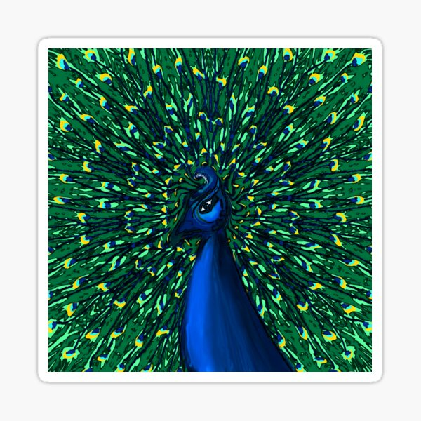 Peacock in the Park Sticker