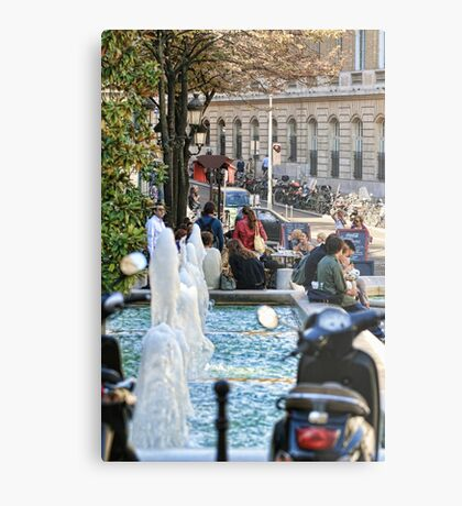 Lunchtime Paris Metal Print