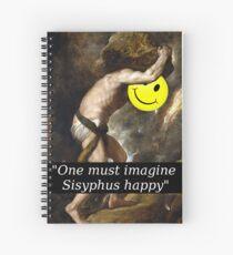 """Cuaderno de espiral """"One must imagine Sisyphus happy"""""""