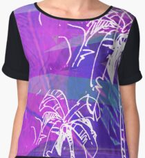 Palm tree Women's Chiffon Top