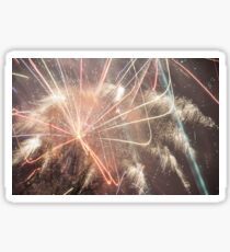Crazy Fireworks on New Years Eve Sticker