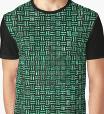 WOVEN1 BLACK MARBLE AND GREEN MARBLE Graphic T-Shirt