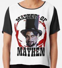 d6f39287 Master Of Mayhem. Julian Slink. Blood Drive Chiffon Top
