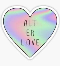 alt er love (skam)  Sticker