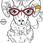 Hipster Goat by AthenaVictoria