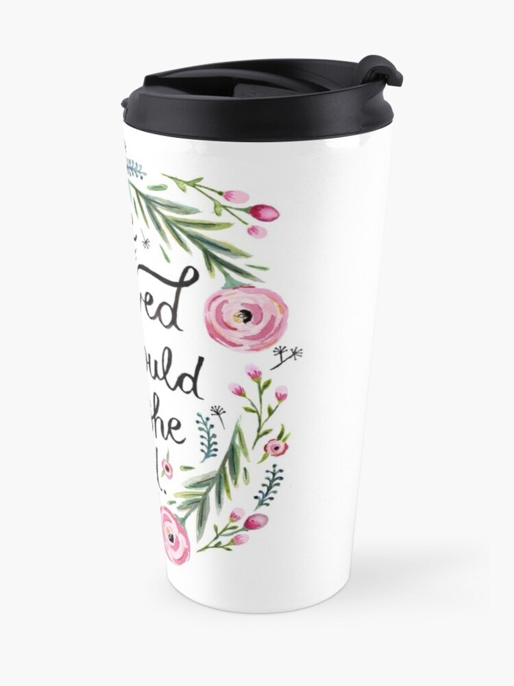 Alternate view of She Believed She Could So She Did Travel Mug