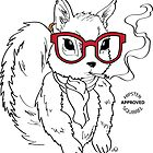 Hipster Squirrel by AthenaVictoria