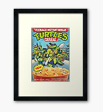 TMNT cereal Framed Print