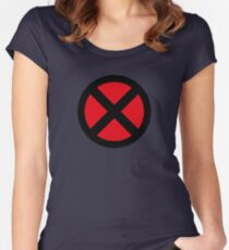 X Logo Women's Fitted Scoop T-Shirt