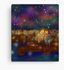 Night at the lake Canvas Print