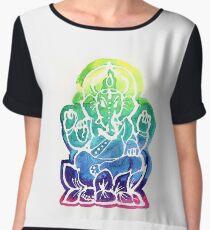 Rainbow Ganesha Chiffon Top