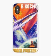 """In space – soviet road!"", Soviet propaganda poster iPhone Case/Skin"
