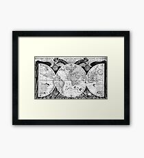 Historical map Framed Print