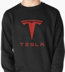Tesla Red Logo Pullover Sweatshirt