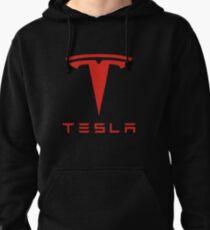 Tesla Red Logo Pullover Hoodie