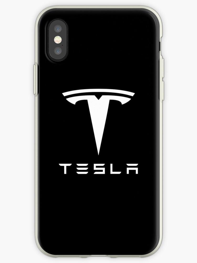 Tesla weißes Logo von Robert Dyer