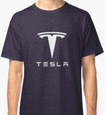 Tesla White Logo Classic T-Shirt