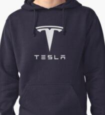Tesla White Logo Pullover Hoodie