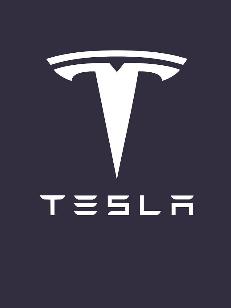 Tesla weißes Logo von robertdyer