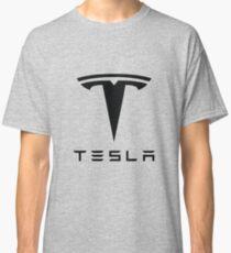 Tesla Black Logo Classic T-Shirt