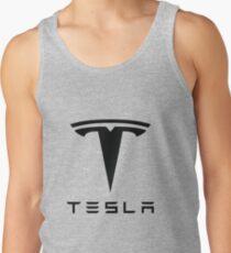 Tesla Black Logo Tank Top