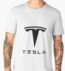 Tesla Black Logo Men's Premium T-Shirt