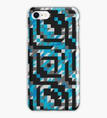 Abstract Polygon Multi Color Low Poly Triangle Quilt  - Snow and Ice iPhone Case/Skin