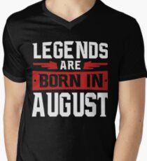 Legends are born in August shirt Men's V-Neck T-Shirt