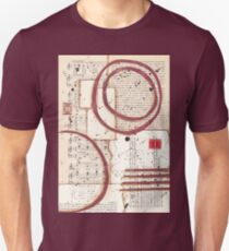 Mixed media collage vintage papers Unisex T-Shirt