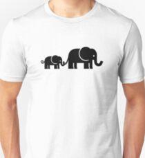 Elefantenfamilie Unisex T-Shirt