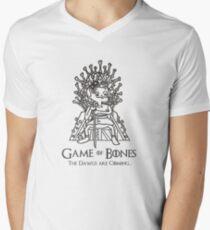 Spiel der Knochen / Der König der AFC North T-Shirt mit V-Ausschnitt