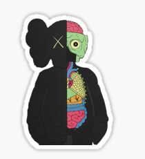 KAWS companion split black gold  Sticker