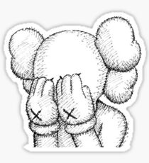 KAWS companion sketch white grey Sticker