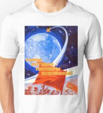 """Sons of October – pioneers of the universe!"", Soviet propaganda poster T-Shirt"